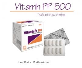 Thông báo mặt hàng VITAMIN PP 500 kể từ lô 0020119 sẽ thay đổi mẫu toa theo TT01/2018