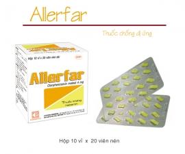 Thông báo mặt hàng ALLERFAR kể từ lô 0020319 sẽ thay đổi mẫu toa theo TT01/2018
