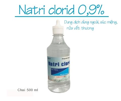 Thông báo mặt hàng mới: NATRI CLORID 0,9% (Chai 500 ml dung dịch dùng ngoài, súc miệng, rửa vết thương)