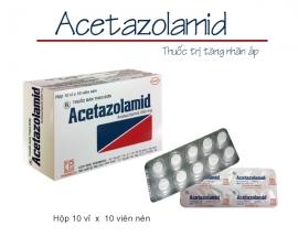 Thông báo mặt hàng ACETAZOLAMID kể từ lô 0070419 sẽ thay đổi mẫu mã hộp đơn vị