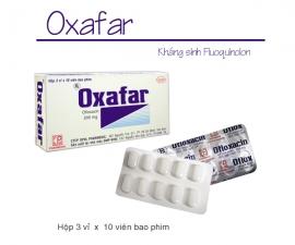 OXAFAR kể từ lô 0010419 sẽ thay đổi mẫu toa theo TT01/2018 và đổi mẫu mã bao bì (bỏ màng co bloc)