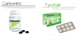 Thông báo mặt hàng sẽ thay đổi mẫu toa theo TT01/2018: CARBOMINT kể từ lô 0660718, TYROTAB (Hộp 1 vỉ xé) kể từ lô 0010319
