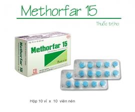 METHORFAR kể từ lô 0030619 sẽ thay đổi mẫu hộp đơn vị (hình ảnh đính kèm)