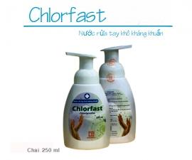 Thông báo mặt hàng mới: Nước rửa tay khô kháng khuẩn chlorfast (Chai 250 ml)