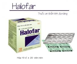 Thông báo mặt hàng: HALOFAR kể từ lô 0010720 sẽ thay đổi số Đăng ký. (SĐK cũ: VD-12248-10; SĐK mới: VD-33439-19 theo QĐ số: 652/QĐ-QLD ngày 23/10/2019)