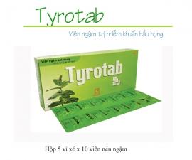 Thông báo mặt hàng mới: TYROTAB (Hộp/5 vỉ xé/10 viên ngậm)