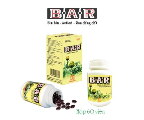 B.A.R Hộp/60 viên kể từ lô 0010120 và B.A.R Hộp/180 viên kể từ lô 0020120 sẽ nâng cấp mẫu bao bì mới, dùng phương pháp in trực  tiếp lên thân lọ (hình ảnh theo mẫu đính kèm)