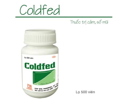 COLDFED (Lọ 500 viên) kể từ lô 0470719 sẽ thay đổi mẫu toa theo TT01/18