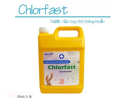 Thông báo mặt hàng mới: Nước rửa tay khô kháng khuẩn CHLORFAST (Bình 5 lít)