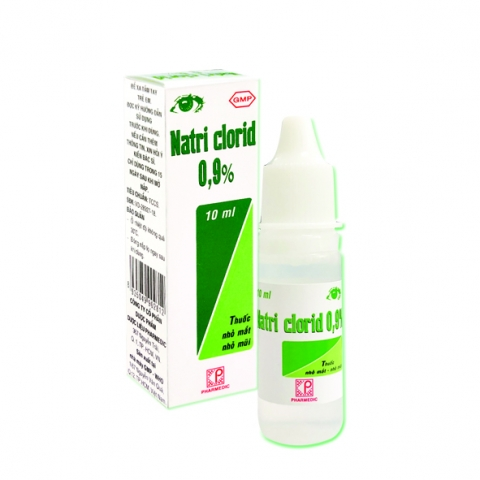 Thông báo về mặt hàng thuốc nhỏ mắt - nhỏ mũi NATRICLORID 0,9%